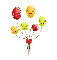 Bunch Of Party Glossy Balloons Kids Birthday Party vector image