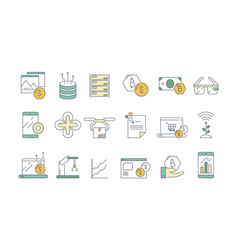 Business and technology icon high tech modern vector