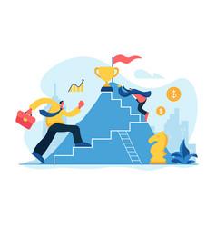 Career growth concept vector