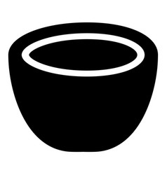 Coconut icon black color flat style simple image vector
