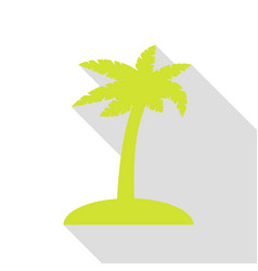 coconut palm tree sign pear icon with flat style vector image