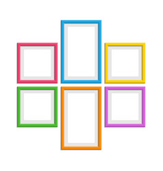 colored photo frames set vector image