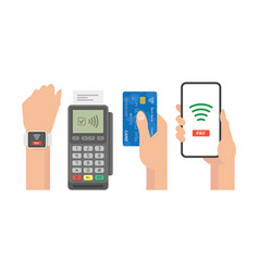 contactless payment concept vector image