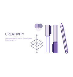 creativity business concept process of creative vector image