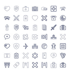Cross icons vector