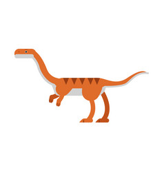 Cute cartoon coelophysis dinosaur prehistoric and vector