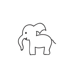 Doodle elephant animal icon vector image