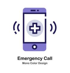 Emergency call mono color icon vector