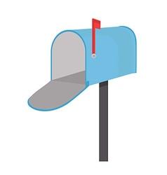 Empty mailbox vector image