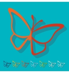 Flat design butterfly vector