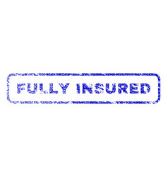 Fully insured rubber stamp vector
