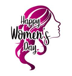 girl avatar happy women day vector image