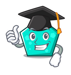 Graduation pentagon character cartoon style vector