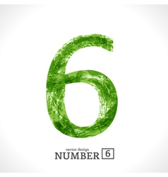 Grunge Number 6 vector