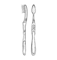 Hand drawn toothbrush vector image