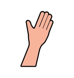 hand human help gesture fingers palm icon vector image
