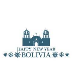 Happy New Year Bolivia vector