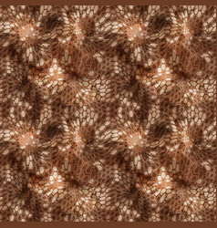 Hexagonal brown camouflage seamless patttern vector
