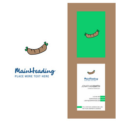 Hot dog creative logo and business card vertical vector