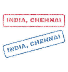 India chennai textile stamps vector