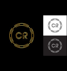 initial cr letter logo business typography vector image