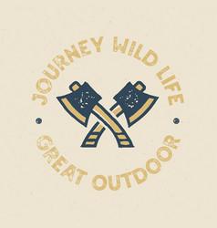 journey wild life logo design print great outdoor vector image