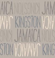 Kingston jamaica seamless pattern vector
