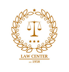 law firm office center logo design vector image