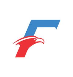 letter f falcon logo icon vector image