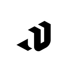 letter u with negative space vector image