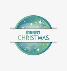 merry christmas christmas ball with green vector image