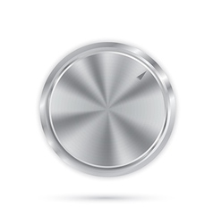 metal button with circular processing vector image