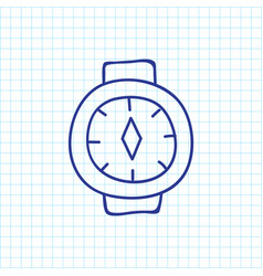 of travel symbol on watch vector image