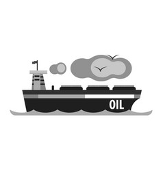 oil tanker ship production and transportation of vector image