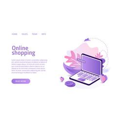 online shop website landing or e-commerce vector image