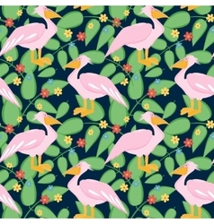 Pelican seamless pattern vector image