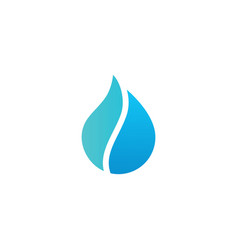 Pure water drop logo icon vector