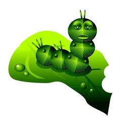 robot caterpillar vector image