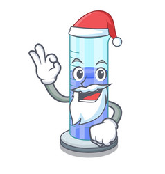 santa graduated cylinder on for cartoon trial vector image