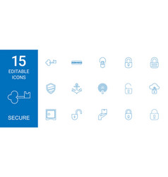 secure icons vector image