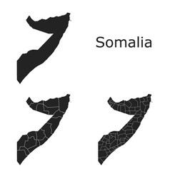 Somalia map with regional division vector