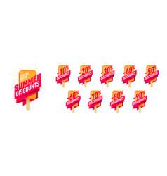 Special offer summer sale advertising labels set vector