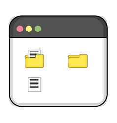 Technology computing window cartoon vector