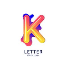 The letter k latin alphabet display vector