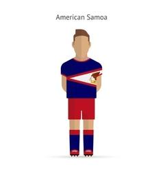 American Samoa football player Soccer uniform vector image vector image