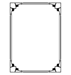 Art Deco black ornamental decorative frame vector image