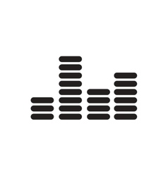 black icon on white background sound and vector image