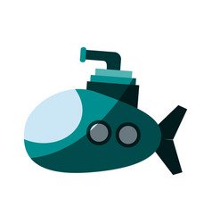 cartoon submarine icon image vector image