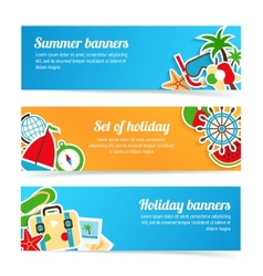 Holiday banners set vector image vector image
