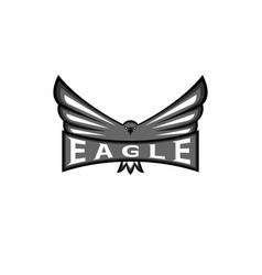 logo eagle spread the wings hawk sport mascot vector image